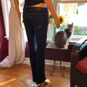 Express barely boot cut jeans